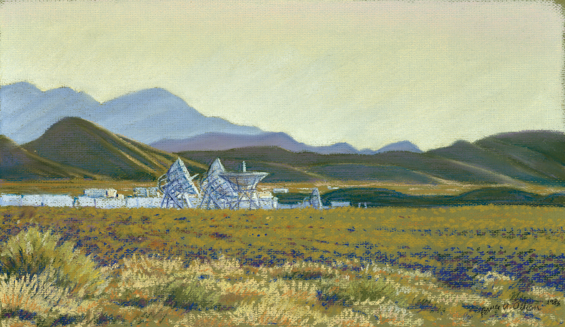 White Sands Space Tracking Facility - pastel 1986