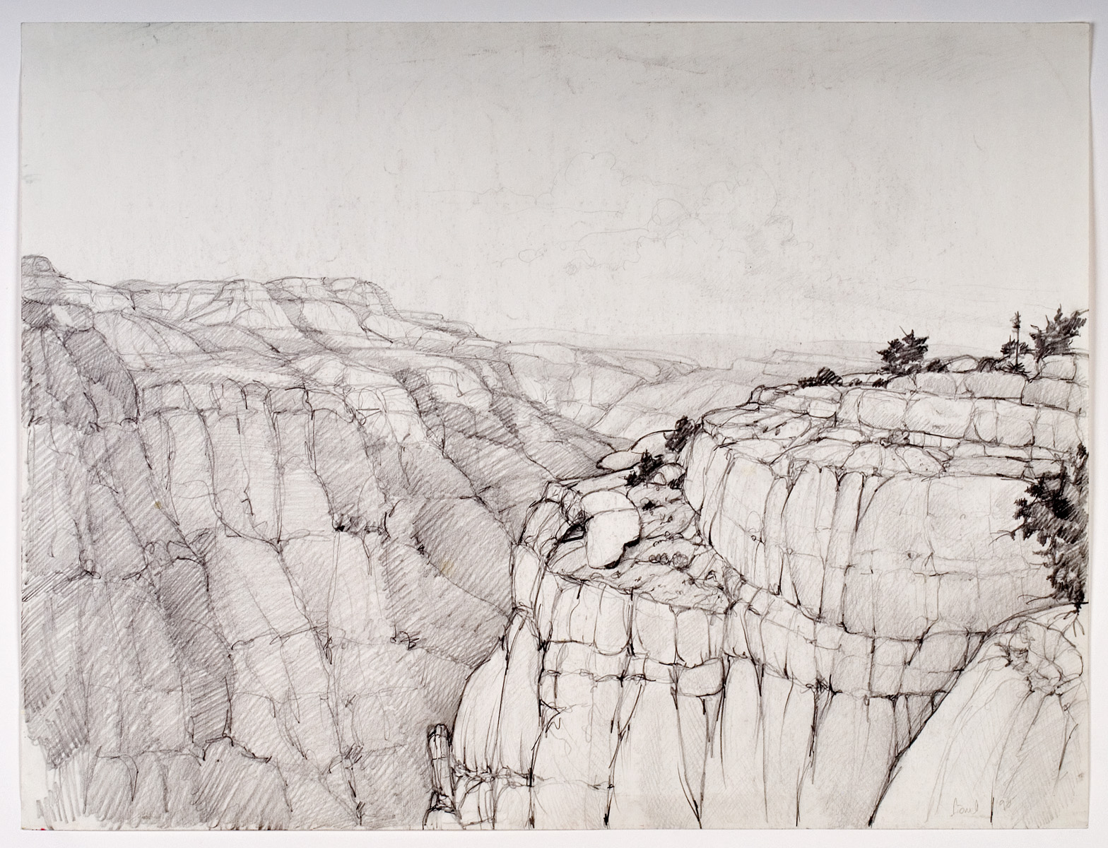 West From Toroweap, pencil -  1980